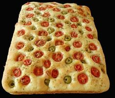 Focaccia pugliese aux olives et tomates, Recette Ptitchef Pizza, Desserts, Cakes, Food, Cherry Tomatoes, Salty Tart, Cooking Recipes, Salads, Italian Cooking