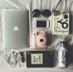 macbook sunglasses, polaroid, wreck this journal Instax Mini 8, Fujifilm Instax Mini, Instax Mini Ideas, Tumblr Soft, Wallpaper Telephone, Polaroid Foto, Polaroid Cameras, Image Tumblr, Foto Top