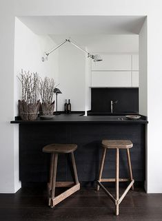 Love - Kitchen Stools See more images from 10 things every small kitchen needs on domino.com