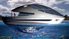 Eco-Yacht & Houseboat | Trilobis 65 by Giancarlo Zema