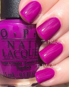 OPI Neons Collection Swatches  Push & Pur-Pull
