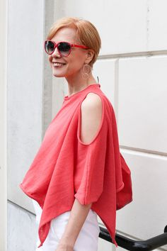Red and white outfit looks | 40plusstyle.com