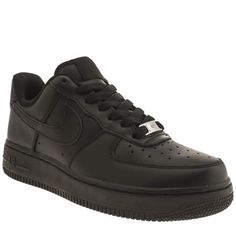 womens nike black air force 1 low trainers
