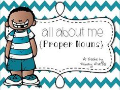 CCSS ELA- Literacy (Use of common, proper, and possessive nouns.) This file will assist and engage students working to identify and write proper nouns. Grammar Activities, Teaching Grammar, Teaching Language Arts, Classroom Language, Nouns First Grade, 2nd Grade Writing, First Grade Reading, Second Grade, Nouns Kindergarten