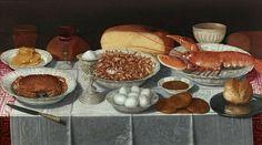 Clara Peeters Breakfast Piece with Shellfish and Eggs