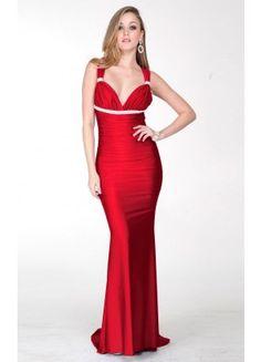 Classic Spaghetti Straps Mermaid Sleeveless Satin Sweep Train Evening Dresses - Wedding Dresses