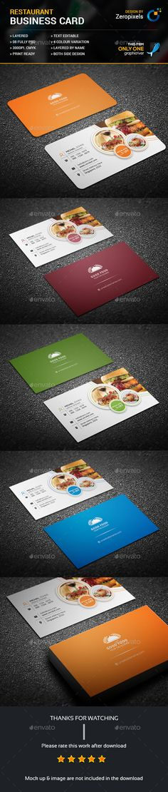 Restaurant Business Card Template PSD. Download here: https://graphicriver.net/item/restaurant-business-card/17469304?ref=ksioks