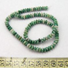 Jade, qinghai, jaspis grønplettet, linse 6mm