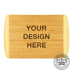 Custom Engraved Cutting Board 18x12 - Personalized with Any Design - Your Design Bamboo Chopping Board - Design Your Own Logo Board