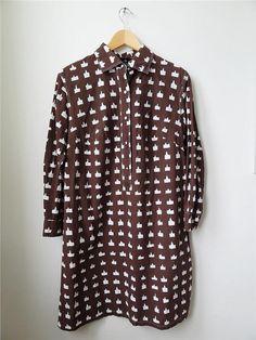 Vintage Marimekko Shirt Dress 1969 Finland Scandinavia
