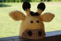 Free Pattern - Crochet Giraffe Hat