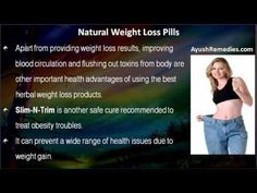 This video describes about unbiased natural weight loss pills reviews for those who want to lose weight fast. You can find more detail about Slim-N-Trim capsule, InstaSlim capsule and Figura capsule at http://www.ayushremedies.com