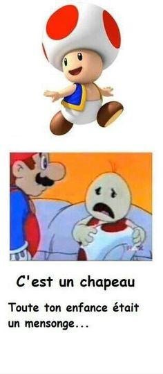 Toad a un chapeau lol