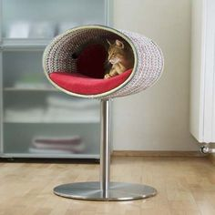 Modern Cat Furniture Design for Function and Attraction - Hunde und Katzen Contemporary Cat Furniture, Cat Tree Designs, Cat Stands, Upholstery Foam, Cat Scratcher, Pet Furniture, Furniture Design, Unique Cats, Cat Condo