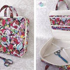 Awesome #amethystprojectbag that @shannoncreated made for her hand sewing supplies! Love the sewing-inspired fabric!