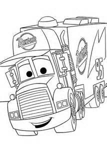 Mack, de truck die rijdt Bliksem McQueen aanhangwagen aan