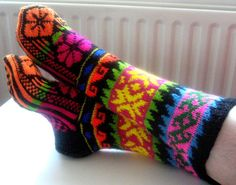 Knitted socks-stockings3 by ARTLAND77 on Etsy