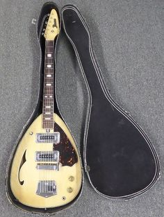 Domino Tear Drop Styled 6 String Guitar - Early 60s Japanese | Reverb