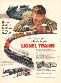 1951 Lionel Train ad