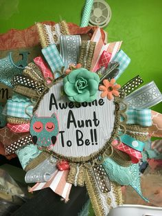 Woodland baby shower theme corsage