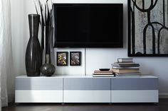 The BESTÅ system has all your entertainment and storage needs covered, and can be built almost any way you like.