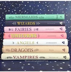 I have the unicorns one and I looove the cover! Now I am determined to coll… – Best Books I Love Books, Good Books, Books To Read, My Books, Book Club Books, Book Series, Reading Lists, Book Lists, Book Dedication
