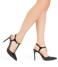 NEW ShoeMint Mara T-Strap Heels