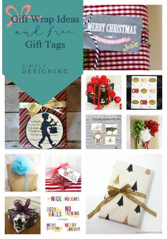 Gift Tag and Gift Wrap Ideas via Simply Designing