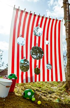 5 fun DIY outdoor activities for kids. Perfect to encourage outdoor play. Outdoor Activities For Kids, Outdoor Games For Kids, Outdoor Fun, Cool Diy, Fun Diy, Diy For Kids, Crafts For Kids, Water Party, Backyard Games