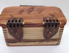 another box with wood hinges