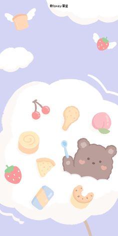 Peach Wallpaper, Cute Pastel Wallpaper, Cute Wallpaper For Phone, Cute Disney Wallpaper, Aesthetic Pastel Wallpaper, More Wallpaper, Cute Cartoon Wallpapers, Kawaii Wallpaper, Aesthetic Wallpapers