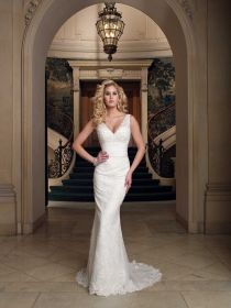 fitted off the shoulder sheath wedding gown - Google Search