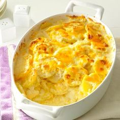 Sharp Cheddar Scalloped Potatoes Recipe from Taste of Home -- shared by Susan Simons of Eatonville, Washington