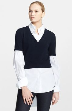 Alexander McQueen Layered Sweater & Shirt available at #Nordstrom