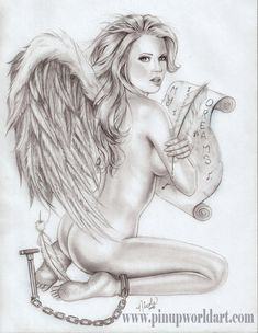 "This is another of Nicole's fantasy girls for her next book due out for comic con 2009. This is ""Chained to my Dreams"" and was a commission for a 30th birthday present. For more information or..."