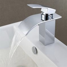 Sumerain S1216CW Waterfall Lavatory Faucet
