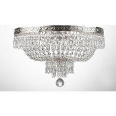 Worldwide Lighting W33008 Empire Flush Mount Ceiling Light