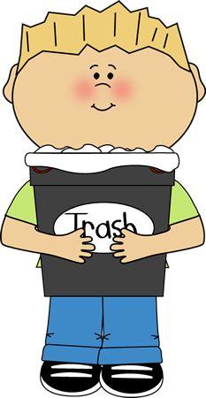 Classroom Trash Helper Clip Art - Classroom Trash Helper Vector Image