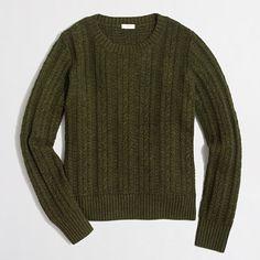 <ul><li>Cotton/merino wool/nylon.</li><li>Hits at hip.</li><li>Long sleeves.</li><li>Hand wash.</li><li>Import.</li></ul>
