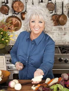 Paula Deen Ohh yes the Queen of the Buttahh:) i would like to meet her . I love to cook and she is so creative not to mention homey  & down to earth