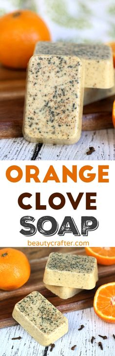 Orange Clove Soap Recipe - Easy Melt and pour DIY Soap #soap #soapmaking #crafts #christmas #diygift