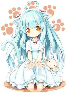 Resultado de imagen para anime chibi girl with headphones