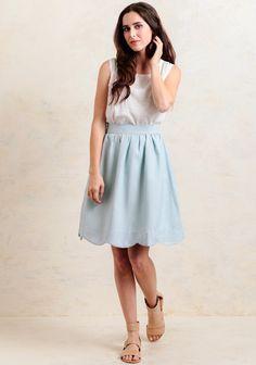 Sunday Tea Scalloped Skirt