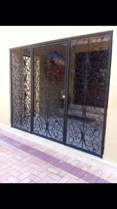 Grill Gate Design, Balcony Grill Design, Front Gate Design, Balcony Railing Design, House Gate Design, Door Gate Design, Entrance Design, Wrought Iron Security Doors, Wrought Iron Doors