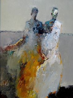Danny McCaw (USA) (Youngest son of painter Dan McCaw) - Two Figures Paintings: Oil