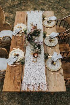 boho tablescape wedding boho Whimsical Wedding Inspiration with Boho Luxe Style Chic Wedding, Wedding Table, Rustic Wedding, Wedding Desert, Wedding Reception, Dream Wedding, Reception Ideas, Wedding Venues, Glamorous Wedding