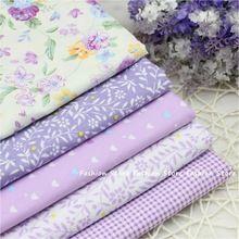 40 cm * 50 cm de tela Manual de bolsa de Tela 5 unids Lirio Morado Tela de Algodón Para Coser Retazos de tela En Casa textil Tilda Muñeca de Trapo(China (Mainland))