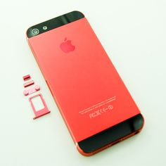 iPhone 5 Red color kit conversion housing replacement http://smartfixparts.com/iphone-parts/iphone-5-parts/iphone-5-colorkitpinkblack.html