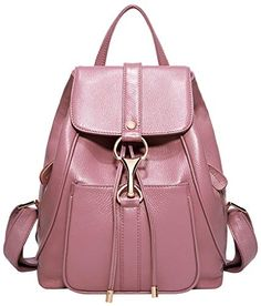 74ff3db3bf0 Leather Backpack Purse, Leather Backpacks, Pink Review, Fashion Backpack,  Travel Style, Real Leather, Ladies Fashion, Shoulder Bag, Female Fashion