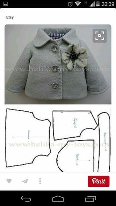 Doll Clothes Patterns, Girl Doll Clothes, Doll Patterns, Clo… – Arts and Crafts Doll Shoe Patterns, Doll Patterns Free, Clothing Patterns, Sewing Patterns, Shirt Patterns, Baby Doll Clothes, Barbie Clothes, Baby Dolls, Teddy Bear Clothes